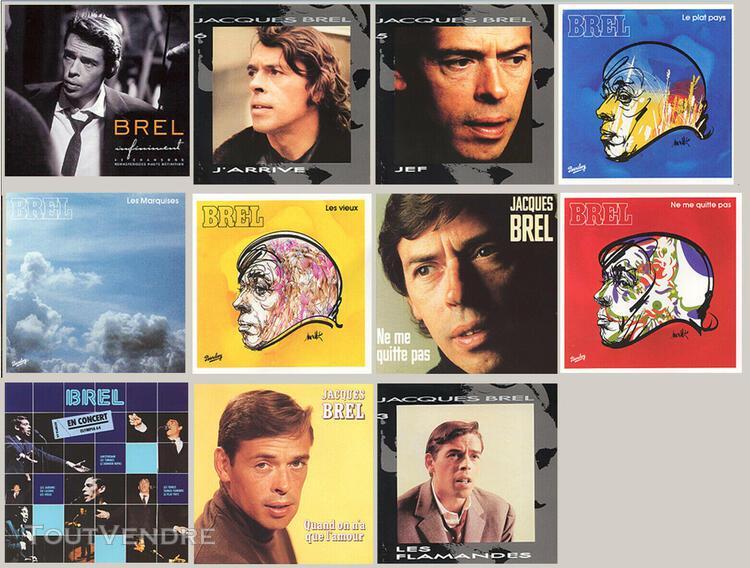 Jacques brel lot de 11 cd