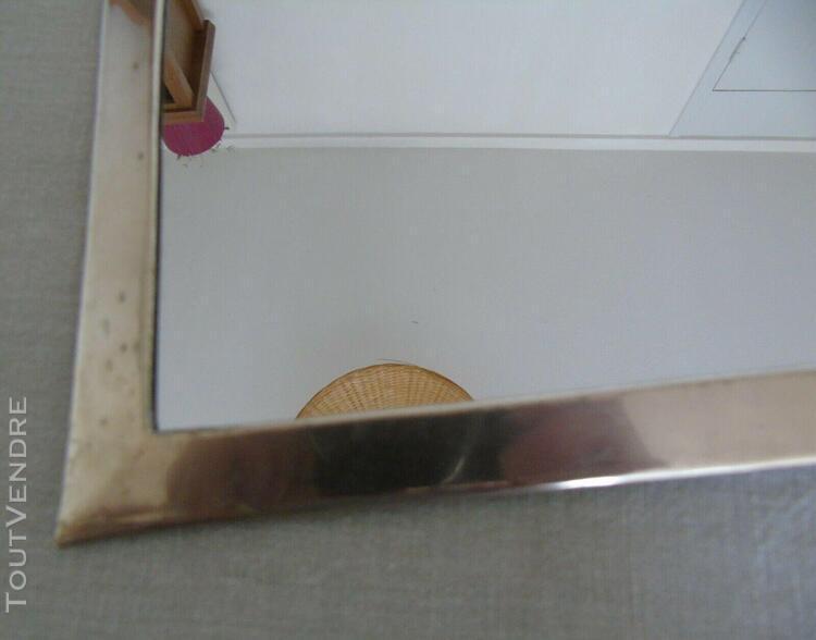 Miroir vintage cadre aluminium fait main