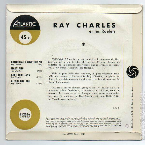 Ray charles ep hallelujah i love her so + 3