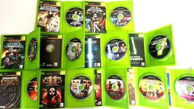 Star wars lot de 11 jeux xbox tbe voir comme neuf - vf !!!