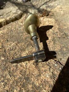 Ancienne poignée de porte olive laiton fer forgé clenche