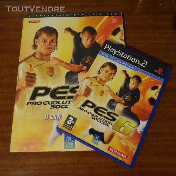 Jeux vidéo ps2 pes 6 (pro evolution soccer) + livre guide