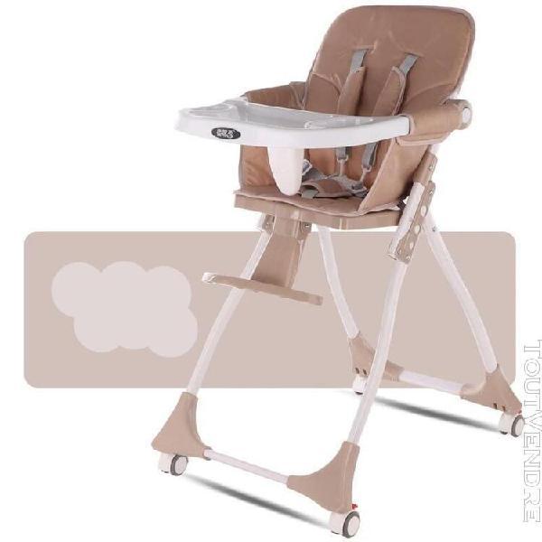 Marron] meubles de chaise d'alimentation portable pliab