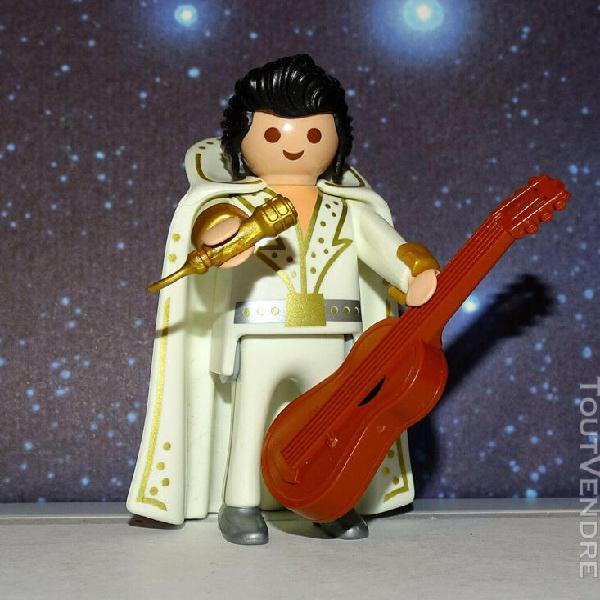 Playmobil custom chanteur elvis presley the king avec guitar