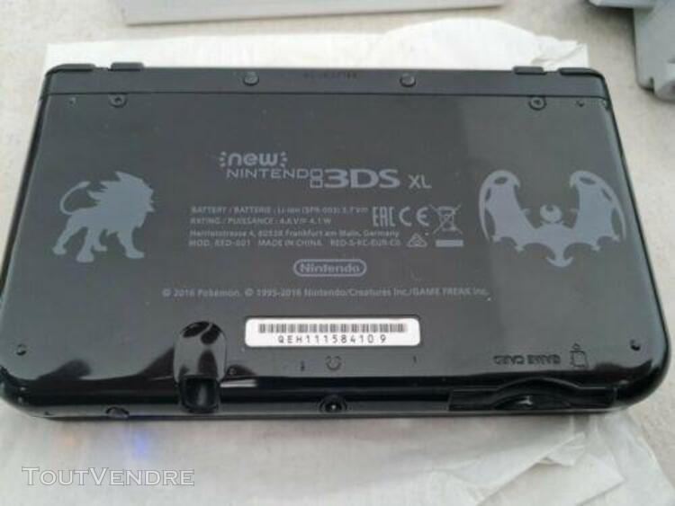 Pokemon nintendo 3 ds xl console noir édition limitée avec