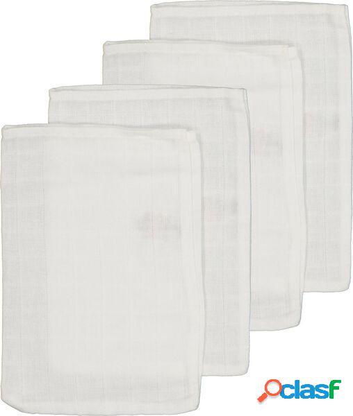 Hema 4 gants de toilette hydrophiles (blanc)