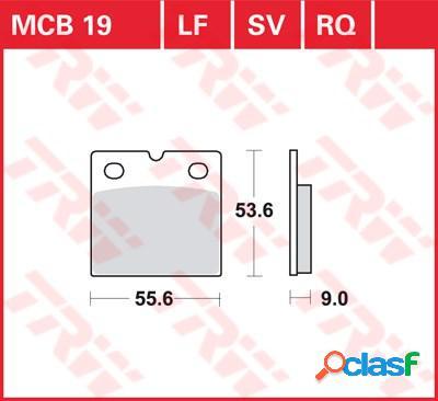 Trw plaquettes de frein sv/sh, et mâchoires moto, mcb019sv