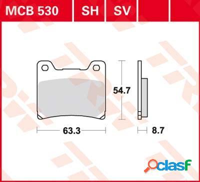 Trw plaquettes de frein sv/sh, et mâchoires moto, mcb530sv