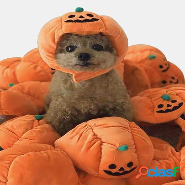 Chapeau de citrouille d'halloween pour animaux de compagnie teddy dress up accessoires de fête de chat pour chien