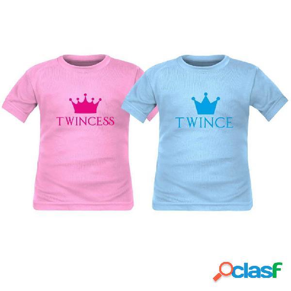 2 tee shirts enfant jumeaux: TWINCESS / TWINCE