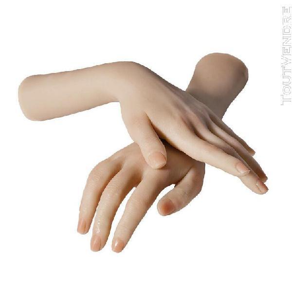 Silicone femmes nail art pratique mannequin main bracelet af