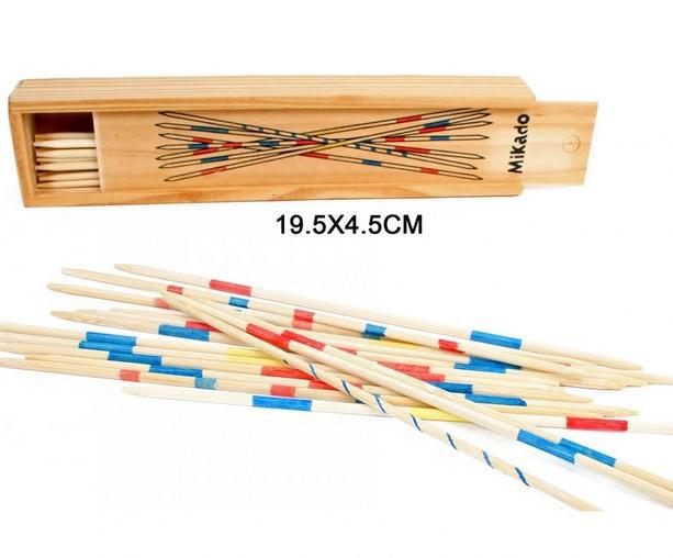 jeu de mikado en bois 18 cm en coffret