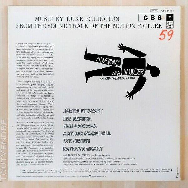 Disque vinyle duke ellington soundtrack anatomy of a murder