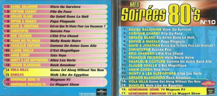 Mes soirées 80's n° 10 - cd occasion 17 titres