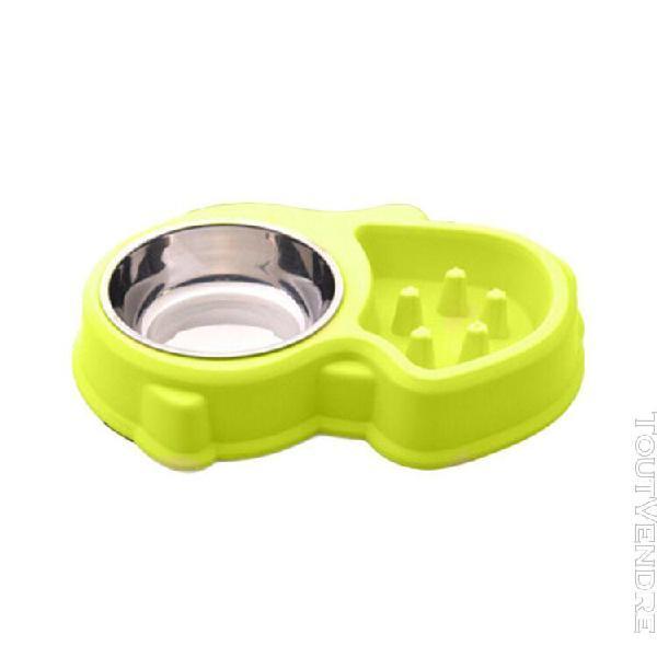 Anti-slip animaux chiens manger feeder bowl durable anti