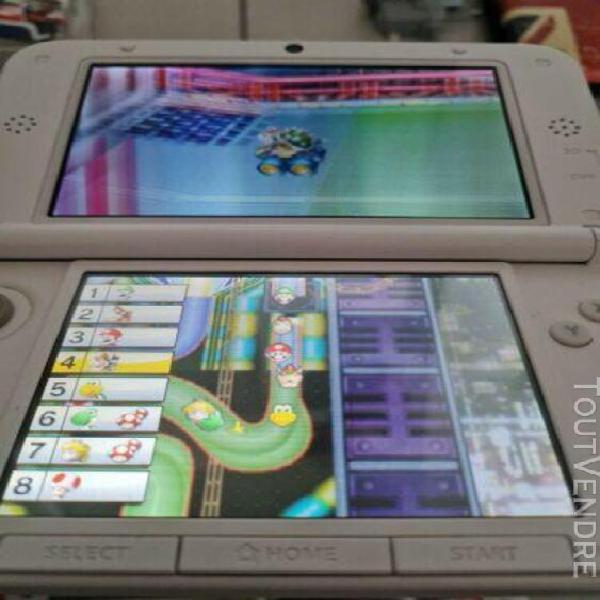 Nintendo 3 ds xl mario kart 7 blanc + 5 jeux housse chargeur