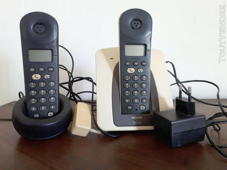 Téléphone sans fil philips 2 combinés pour pièces