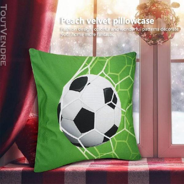 2pcs sport balle motif style housse de coussin canapé taie