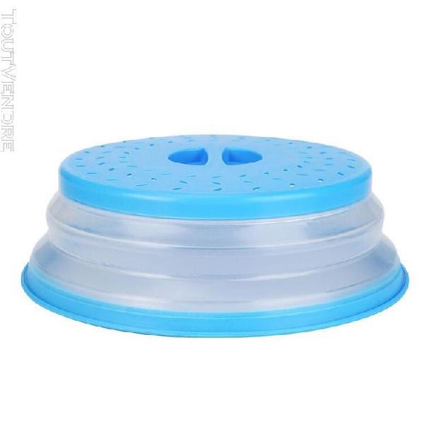 Couvercle de four à micro ondes pliable, stockage des