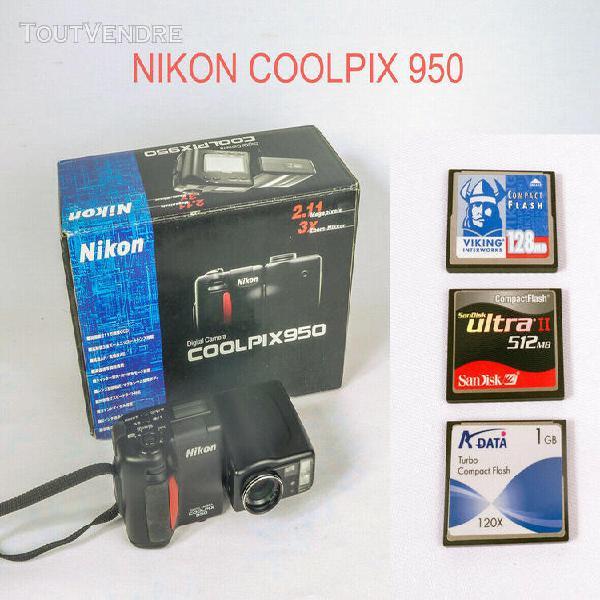 Nikon coolpix 950 avec accessoires