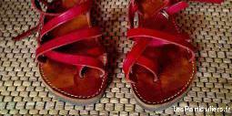 tropéziennes artisanales rouges pour femme