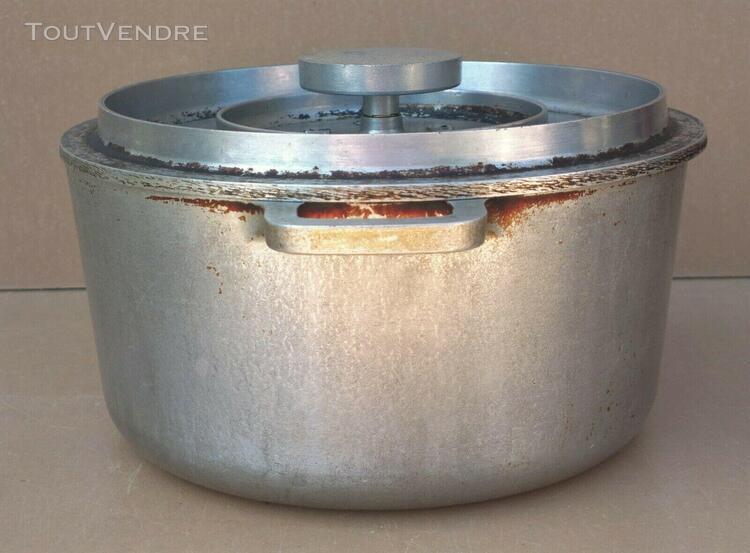 Ancien marmite alu tournus ardor cuisine campagne rustique c