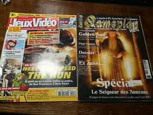 lot de deux magazines jeux videos no128 et gameplay rpg jan