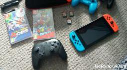 nintendo switch + jeux + manettes pro