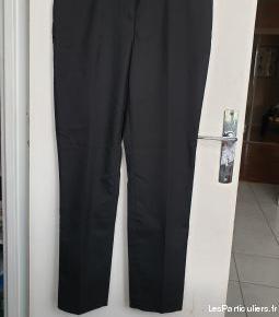 pantalon tailleur noir femme (38)