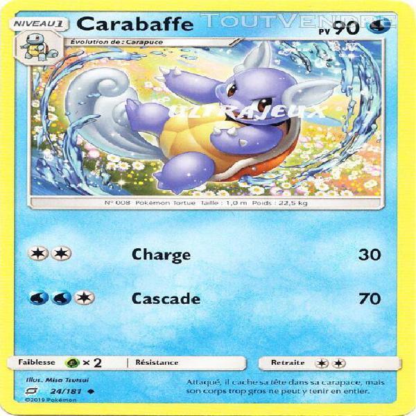 pokémon - 24/181 - carabaffe - sl9 - soleil et lune - duo