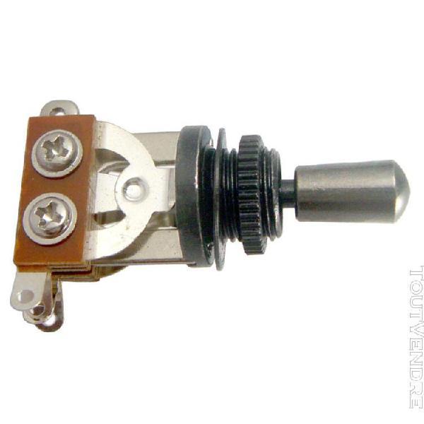 sélecteur de micro À interrupteur À bascule 3 voies noir