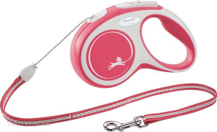 Flexi new comfort laisse corde s 8m rouge