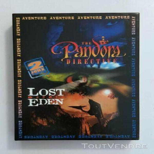 Jeux pc - edition big box: lost eden + pandora directive