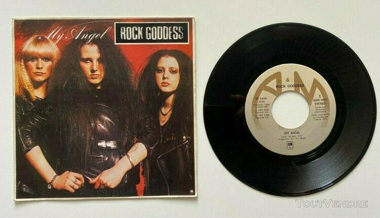 "Rock goddess my angel 7"" single 45t spain 1983 metal a&m rec"