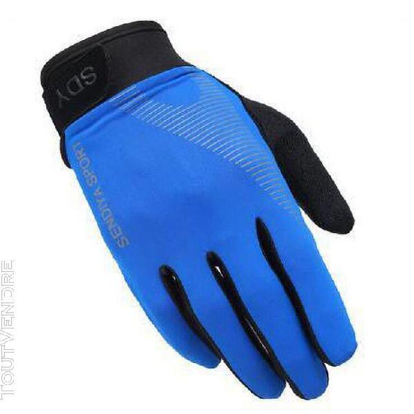 Sports de plein air ice silk thin touch-screen gants de cycl