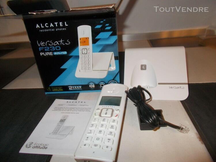 "Telephone fixe ""alcatel versatis f230"" téléphone sans fil"