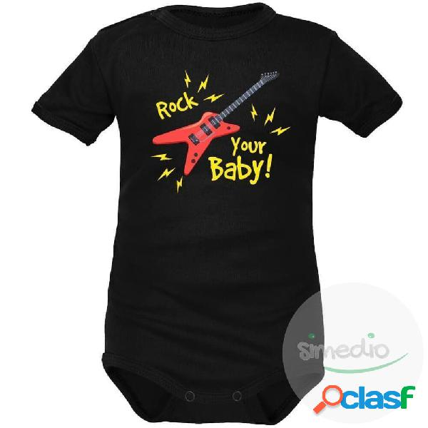 Body bébé original: rock your baby - blanc longues