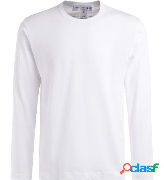 T-shirt comme des garçons shirt à manches longues en coton blanc