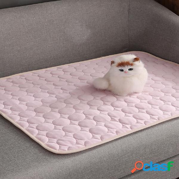 Tapis de refroidissement pour chien pet cat chilly summer cool bed pad coussin siège intérieur tapis de soie glacée couv