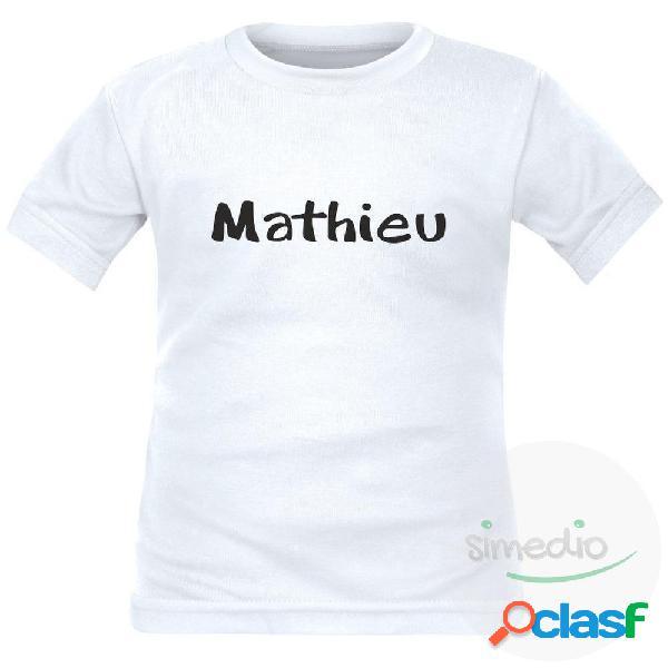 Tee shirt enfant avec prénom de votre enfant - Rose 4 ans Courtes
