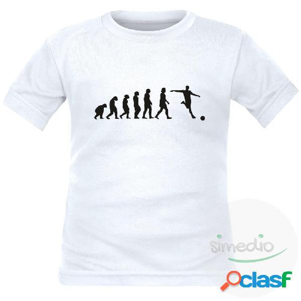 Tee shirt enfant de sport: EVOLUTION - Blanc 2 ans Courtes