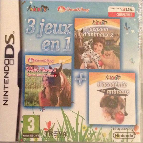 3 jeux en 1: mon haras 2 / ma pension d'animaux 2 / l'acade