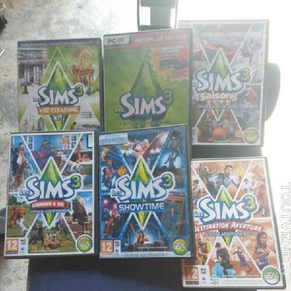 Lot jeux sims 3 pc 6 disques additionnel lire descriptif