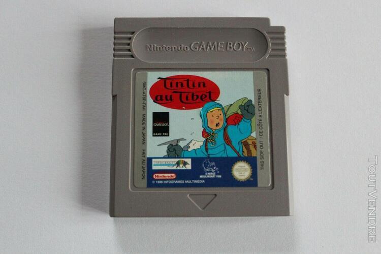 Nintendo game boy (pal fah) - tintin au tibet + notice.