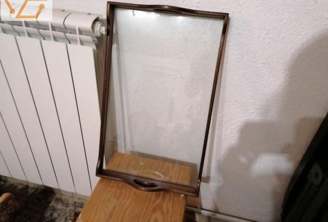 Plateau de service en verre décoratif design...