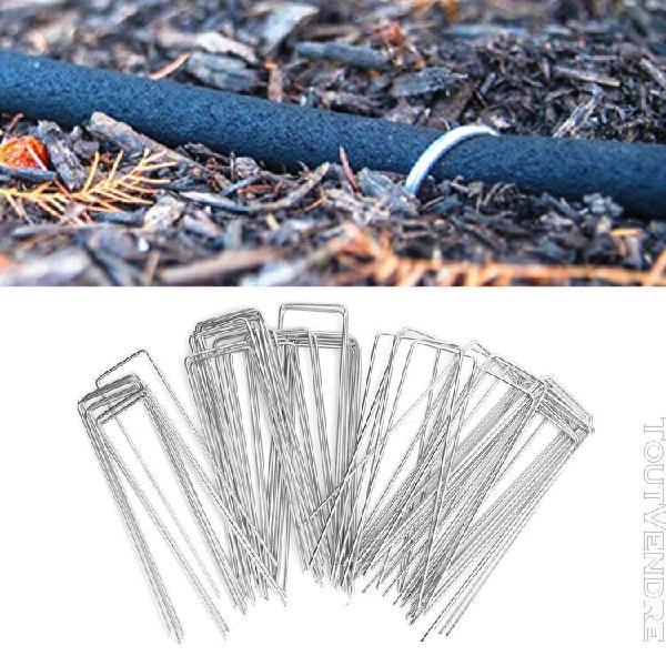 Pointe de tissu de barrière de mauvaises herbes 50pcs