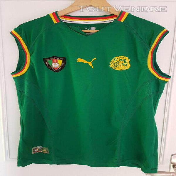 Maillot football cameroun coupe monde 2002 taille m