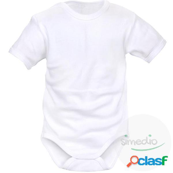Body bébé à personnaliser avec votre texte (manches courtes) - blanc 0-1 mois