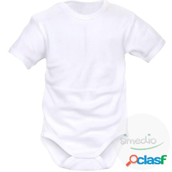 Body bébé à personnaliser - manches courtes - blanc 0-1 mois