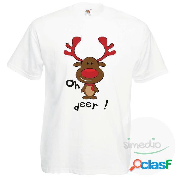 Ensemble famille assorti de noël: oh deer ! (t-shirt papa et maman, body bébé) - papa / s
